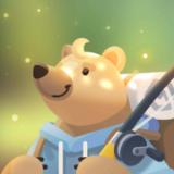 钓鱼的小熊