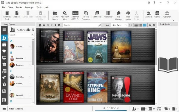 Alfa eBooks Manager(电子书管理工具)