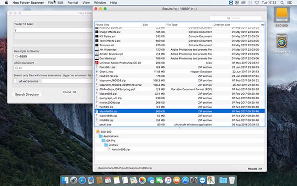 Hex Folder Scanner Mac版