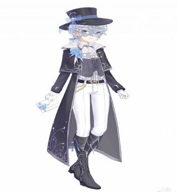 奇迹暖暖怪盗蓝宝石套装